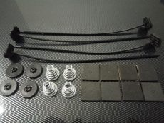 Kit de 4 attaches pour fixation ventilateur plat type Spal Comex